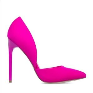 Fuchsia D'orsay Court-Shoe Heel Pumps